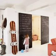 只花几百块就能把家里逼格提升几个档次的办法有吗?有啊,黑板墙
