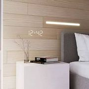 这种板材hin有趣,把灯和装饰板完美融合在了一起