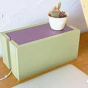 手动DIY丨桌面储线盒+搁物架,女生也能轻松上手!