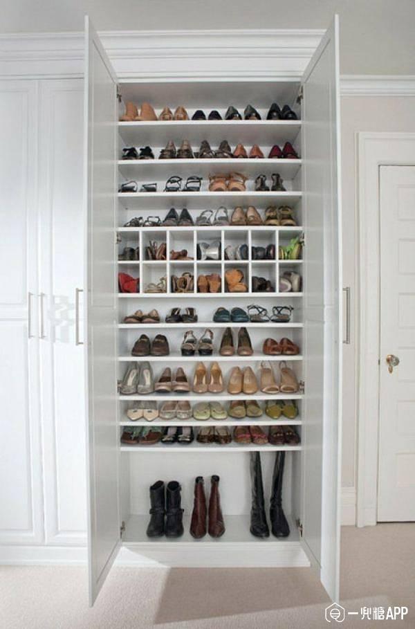 根据鞋子尺寸设计鞋柜层板间距高度以及深度