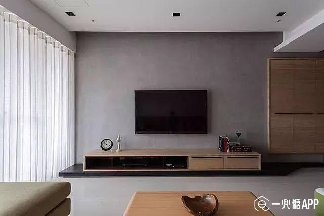 电视背景墙,越简单越实用