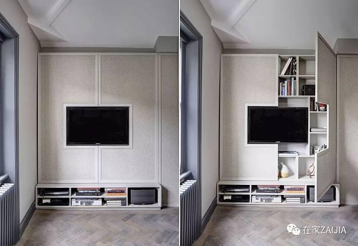 隔斷電視墻,大開間福音 難度: 其實電視墻可以換換思路,不一定非得