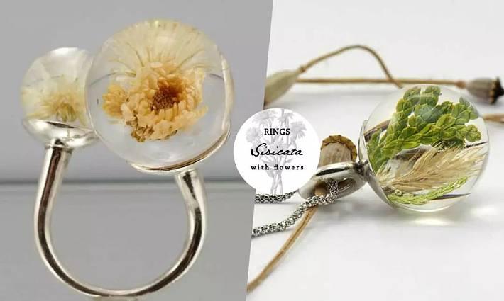 晶莹剔透的树脂材质,小巧可爱的花坠子,像是把春天的可爱封印住,成为