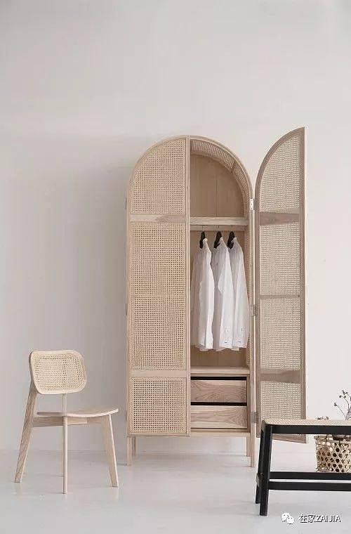 泰国设计工作室atelier   设计的藤编衣柜