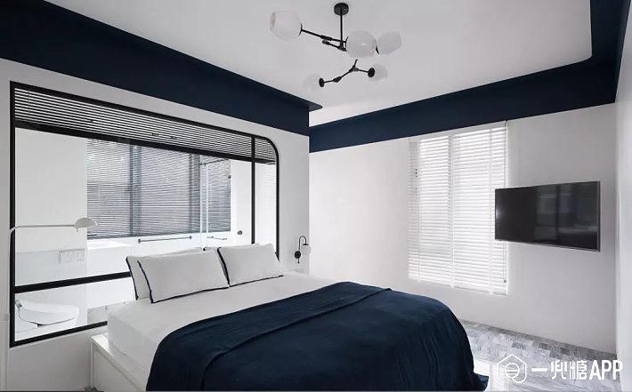 卧室对人们来说,是最好的休息和独处的空间,它应具有安静、温馨的特征,摒弃多余的装饰,让卧室变得更宽敞舒适。 - 1 -  淡蓝色的卧室可以安抚身心的疲惫,淡蓝色的墙面搭配灰蓝色的美式家具,优雅而清新。 - 2 -  卧室的白色和粉色撞色墙面,很大气,再加上木质斜纹人字形铺满的地板,很时尚高档。   深蓝色的单人座椅,阳光通过白色的百叶窗透进来,让空间变得更加唯美。 - 3 -  卧室,床头墙与床铺形成灰-白-灰的层次过渡,结合不对称的床头布置,在提升活跃度的同时,也将高级灰的低调优雅发挥到极