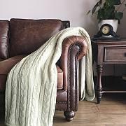 「那一抹薄荷绿」针织盖毯使用测评