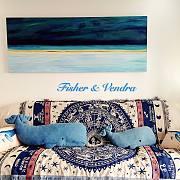 一兜糖众测 宅豆美式乡村棉麻沙发毯--星座蓝海,烘托永恒的美丽~