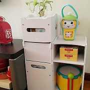 一兜糖众测 | 松鼠城垃圾桶收纳柜——我可能用了一个假的垃圾桶