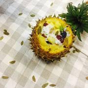 香甜软糯的蒸箱菠萝饭,做法简单到零失败