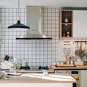 57平小户型,有一个大开放式厨房,1个岛台5种玩法!