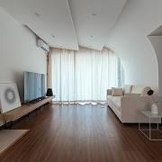 105㎡平层住宅装出博物馆的高级感,灯光能用成这样也是绝了