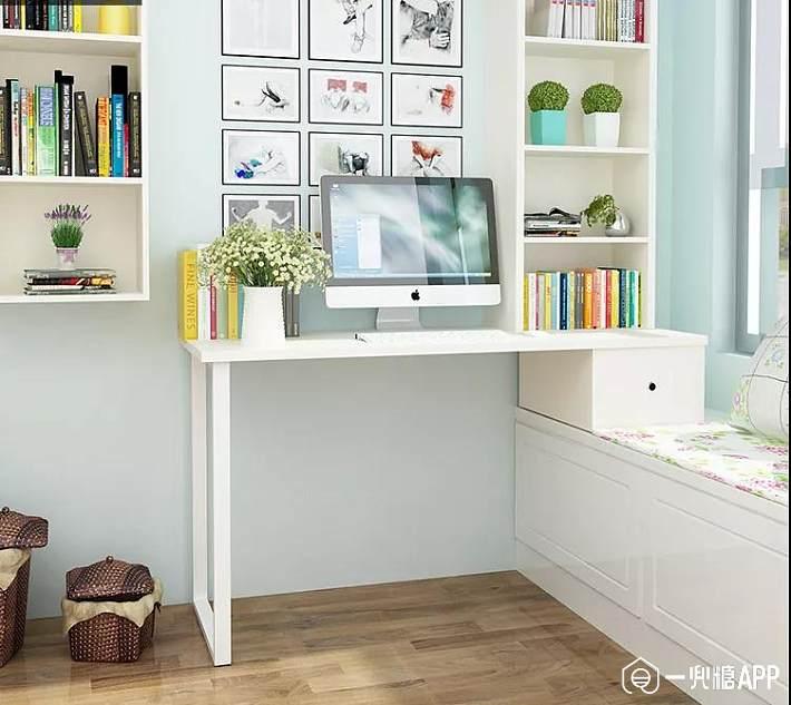 飘窗书桌: 不同配色的小格方便分类收纳,放在桌面收纳些小文具之类图片