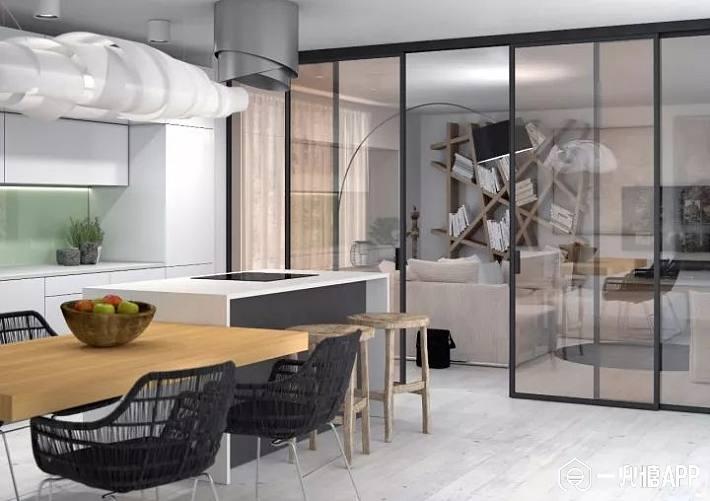 四,不锈钢玻璃门 选择不锈钢边框加玻璃门板的门,这款产品的防水