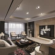 客厅装修,美式风格4点特征