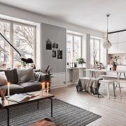 想要餐厅、客厅分区明确,除了隔断,地毯也能做到!