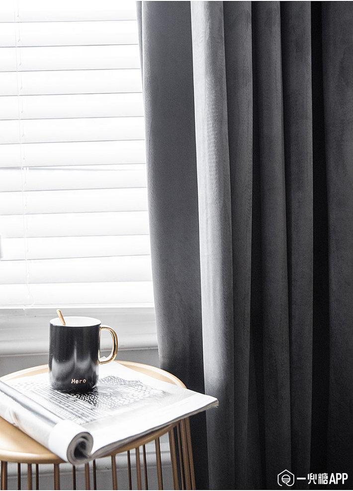 用丝绒窗帘来装点门面,窗帘拉上的那一瞬间,是与世隔绝的两个天地3.jpg