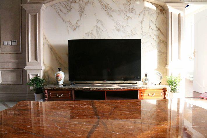 筱枫?家的欧式客厅电视墙装修效果图