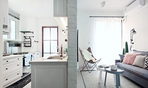 小户型旧房改造:四平米小厨房的极致利用,?#30475;?#30340;收纳功能