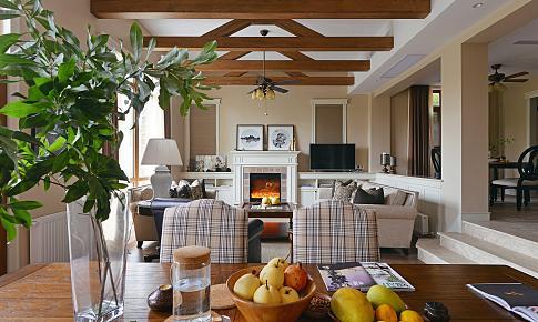 美式悠闲混搭中式韵味,将自然留在家里-龙徽设计