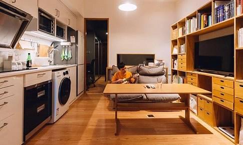 35㎡公寓改造,竟然能有開放式廚房衣帽間和浴缸