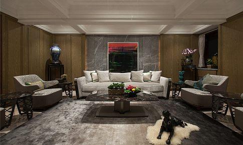 打通三套房子,只為打造古典中式與自由美式極致輕奢風