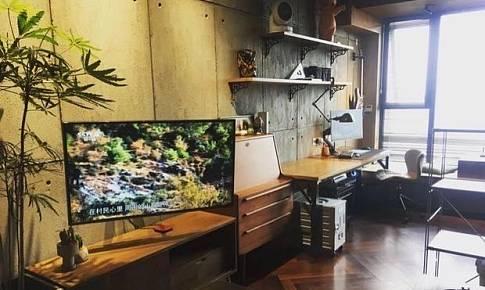 工业美式日式混搭生活工作全功能37平小公寓