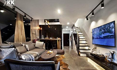 炫酷黑白灰45平方米酒店式公寓時尚loft