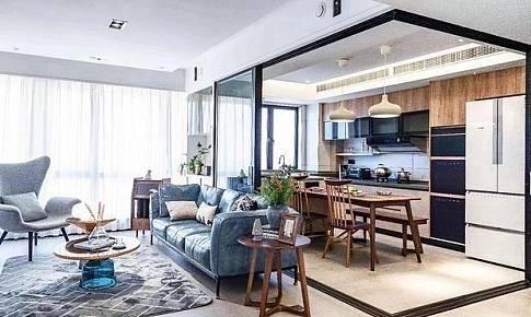 客+餐+厨+书房全开放,为小家造大空间