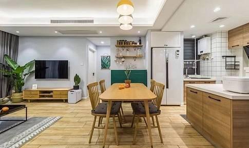 北歐混搭風89方小三房開放式廚房加浴缸?