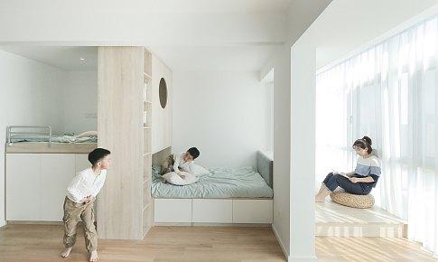 恒田設計|Ryan王恒 打破傳統衛浴布局,59㎡也可以擁有「雙獨衛」