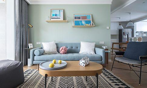 一个低饱和度绿的家——兼顾了功能性和高颜值的北欧风