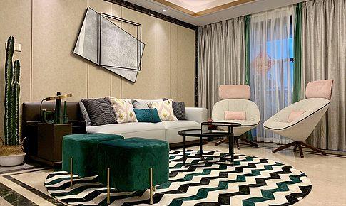 晒家志丨融合摩登与优雅,现代大宅精致混搭构筑休闲式浪漫