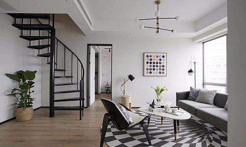 黑白極簡+工業金屬,原木的融入讓家多一點溫柔