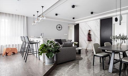 獵舍|117㎡簡約風家裝:他們把客廳裝成了全家人最愛的地方