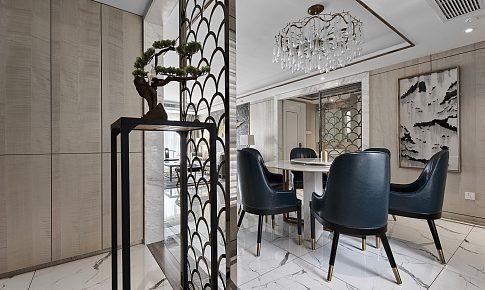 簡約中透著輕奢質感,融合中式元素的家!