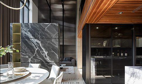 客餐廳挑空現代輕奢二層復式大宅