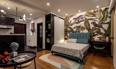 獵舍|39㎡單身公寓:餐廚休閑一應俱全,8萬住進熱帶雨林里