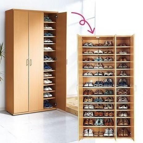 【图】北欧鞋柜,宜家超大容量鞋柜可定做置物吓数图纸画花v容量图片