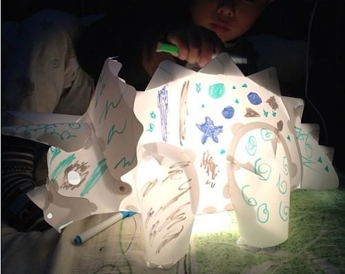 恐龙灯 DIY手工创意制作儿童卧室台灯