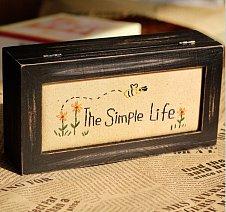 zakka 手工刺绣首饰盒 桌面木质收纳盒 复古摆件 -欧式餐厅收纳盒f家居