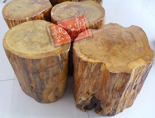 搭配 凳子/天然实木根雕凳子树桩凳 树根凳子木墩原木墩子木雕摆件底座