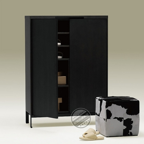 帕鲁格现代简约家具黑橡木实木贴面鞋柜门厅储物柜中式北欧-辉耀2