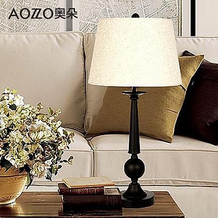 奥朵 卧室台灯 欧式复古简约书房装饰灯美式床头灯 30014 E T_图1