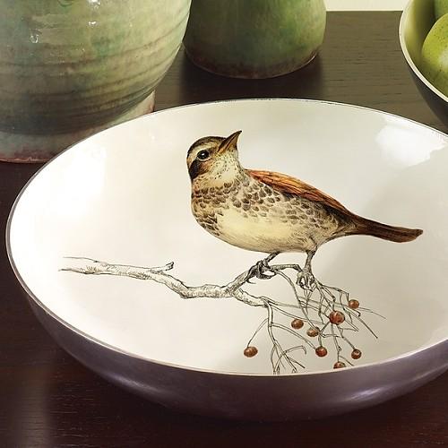 Harbor House 铝制圆形浅盘-小鸟图案 装饰盘 104446_图1