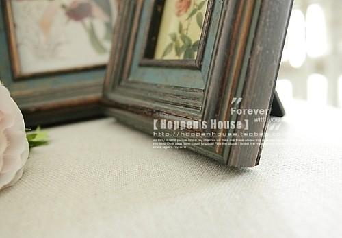 美式相框欧式乡村田园实木复古摆台新古典创意照片相片墙组合挂墙_图3