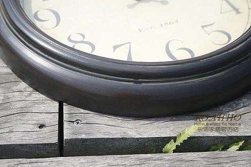 包邮欧式复古钟表美克美家简约客厅卧室美式铁艺乡村静音艺术挂钟_图4