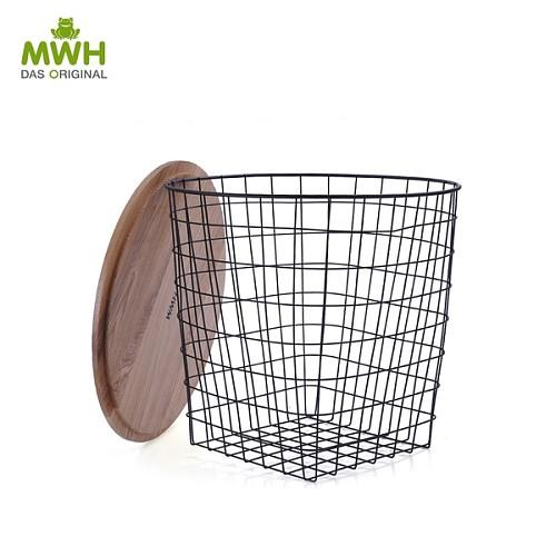 MWH铁艺储物茶几-康斯坦斯茶几现货英式铁网储物篮储物架_图2