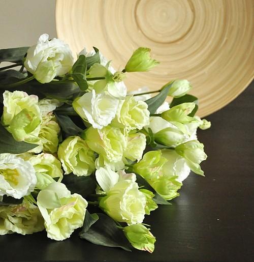 10枝包邮 特惠  一见倾心  古典淡然桔梗花 仿真花 绢花 F063_图3
