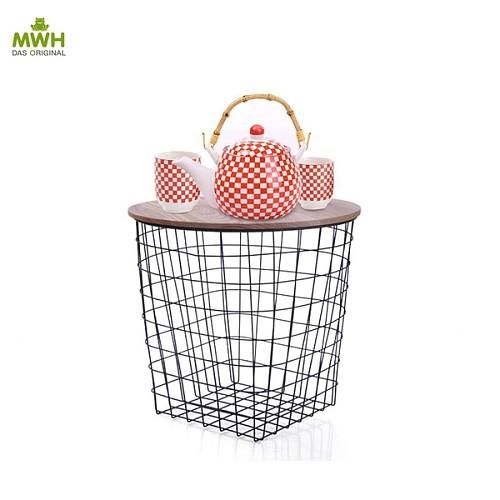 MWH铁艺储物茶几-康斯坦斯茶几现货英式铁网储物篮储物架_图3