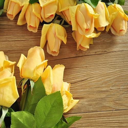 20枝包邮 手感保湿玫瑰花蕾 含苞玫蕾 F503_图3